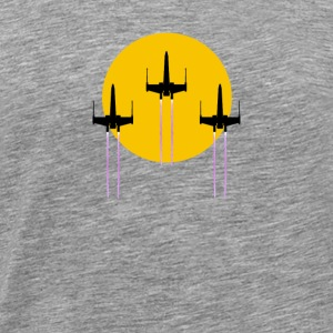 Space Fighters Cross The Sun - Men's Premium T-Shirt