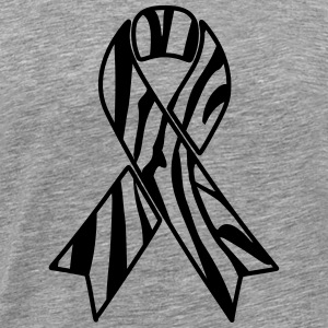 Zebra Awareness Ribbon - Men's Premium T-Shirt