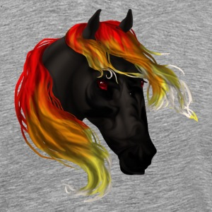 Horse Head - Hell Steed - Men's Premium T-Shirt