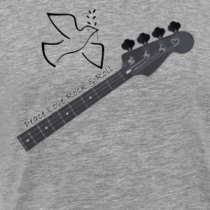 Peace Love and Rock Roll - Men's Premium T-Shirt