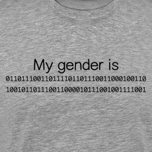 My Gender Is (nonbinary) In Binary - Men's Premium T-Shirt