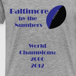 By The Number-Baltimore Football - Men's Premium T-Shirt
