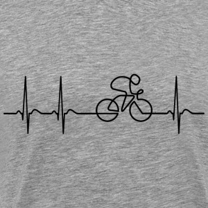 Heartbeat Bike bicycle gift bmx biking cyclist - Men's Premium T-Shirt