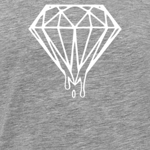 Dripping Melting Diamond - Men's Premium T-Shirt