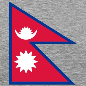National Flag Of Nepal - Men's Premium T-Shirt