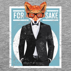 Cool Graphic Fox In A Suit For Fox Sake Saying - Men's Premium T-Shirt