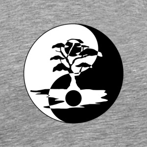 Bonsai Tree in Yin Yang - Men's Premium T-Shirt