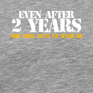 2 Years Anniversary Gifts - Men's Premium T-Shirt