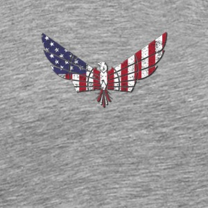 American Flag Patriotic Eagle - Men's Premium T-Shirt