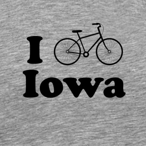 iowa biking - Men's Premium T-Shirt