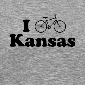 kansas biking - Men's Premium T-Shirt