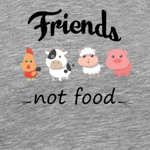 Vegan Friends not food gift for animal friends - Men's Premium T-Shirt