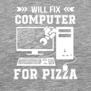 Fix Computer Pizza Computer Geeks Pizza - Men's Premium T-Shirt