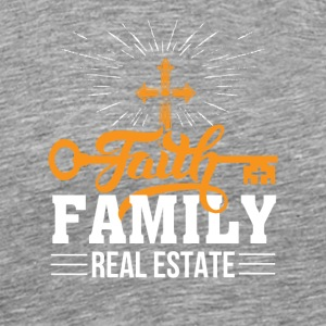 Faith Family Real Estate Realtor Faith - Men's Premium T-Shirt