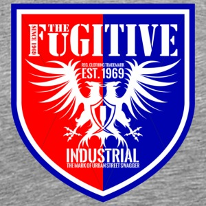 FUGITIVE BADGE RED AND ROYAL - Men's Premium T-Shirt
