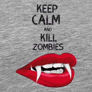 Zombie dracula scary Horror keep calm kill hallowe - Men's Premium T-Shirt