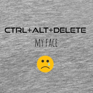 Ctrl Alt Delete My face - Men's Premium T-Shirt