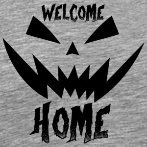 Halloween - welcome home pumpkin - black - Men's Premium T-Shirt