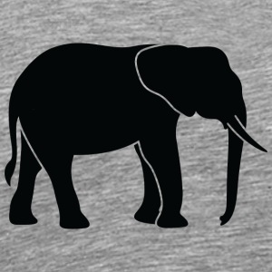 A Big Elephant With Trunk - Men's Premium T-Shirt