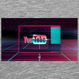 Free miscellaneous digital art retro youtube wallp - Men's Premium T-Shirt