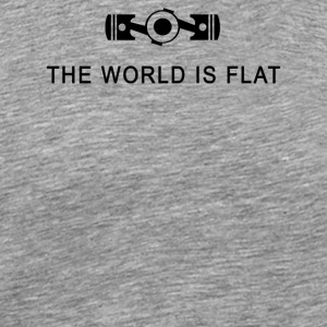 The world is flat - Men's Premium T-Shirt