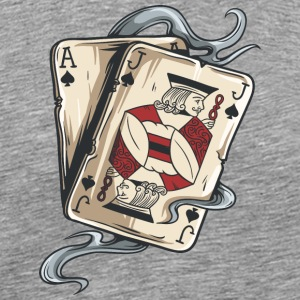 gambling_cards_Ace_and_Jack - Men's Premium T-Shirt