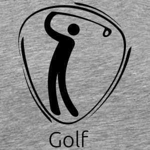 Golf_black - Men's Premium T-Shirt
