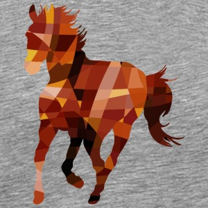 Geometric Horse Polygonal Art - Men's Premium T-Shirt
