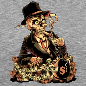 skeleton-cigar-dollar-comics-cartoon - Men's Premium T-Shirt