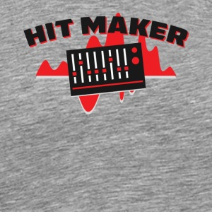 Hit Maker Producer Mixing Board Volume Sound Waves - Men's Premium T-Shirt