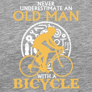 An Old Man With A Bicycle T Shirt - Men's Premium T-Shirt