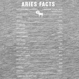 Aries Facts 1 Awesome Zodiac Sign - Men's Premium T-Shirt