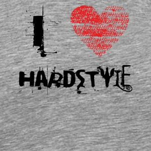 i love hardstyle techno dubstep raver festival - Men's Premium T-Shirt