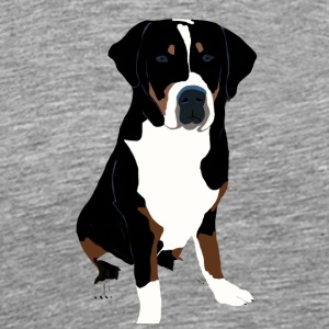 Greater Swiss Mountain Dog Art - Men's Premium T-Shirt