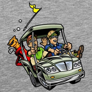 Golf_car - Men's Premium T-Shirt