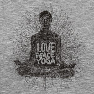 Love Peace Yoga - Men's Premium T-Shirt