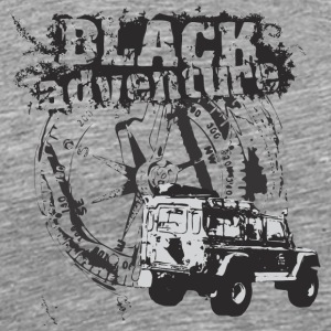 Black adventure with offroad car - Men's Premium T-Shirt