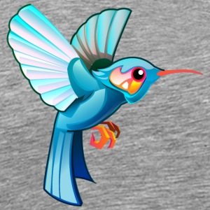 Bird colibri fly wildlife vector clip art children - Men's Premium T-Shirt