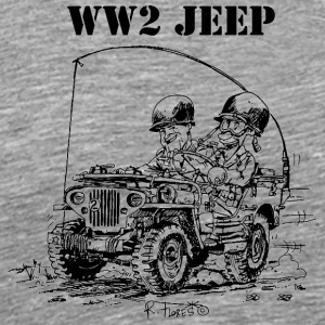 WW2 jeep Funny - Men's Premium T-Shirt