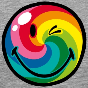 SmileyWorld Rainbow Swirl Smiley - Men's Premium T-Shirt
