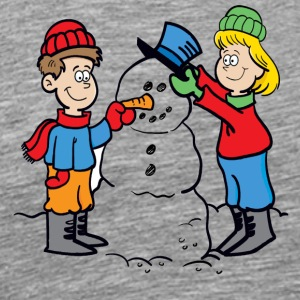 Cartoon_Snowman - Men's Premium T-Shirt