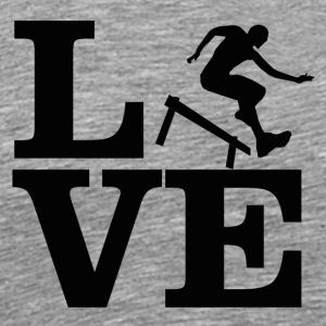 hurdling design - Men's Premium T-Shirt