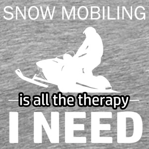 Snow Mobiling is my therapy - Men's Premium T-Shirt