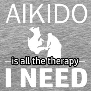 Aikido is my therapy - Men's Premium T-Shirt