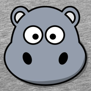 Funny Happy Hippo Comic Style - Men's Premium T-Shirt