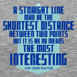 The Third Doctor quote - Men's Premium T-Shirt