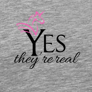 Yes they are real - Men's Premium T-Shirt