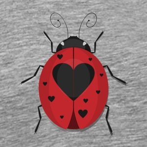 Heart Spotted Ladybug - Men's Premium T-Shirt
