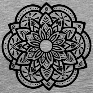Ornamental Lotus Mandala Black - Men's Premium T-Shirt