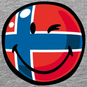 SmileyWorld Norwegian Flag - Men's Premium T-Shirt